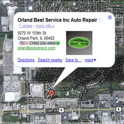 Google directions to orland best service
